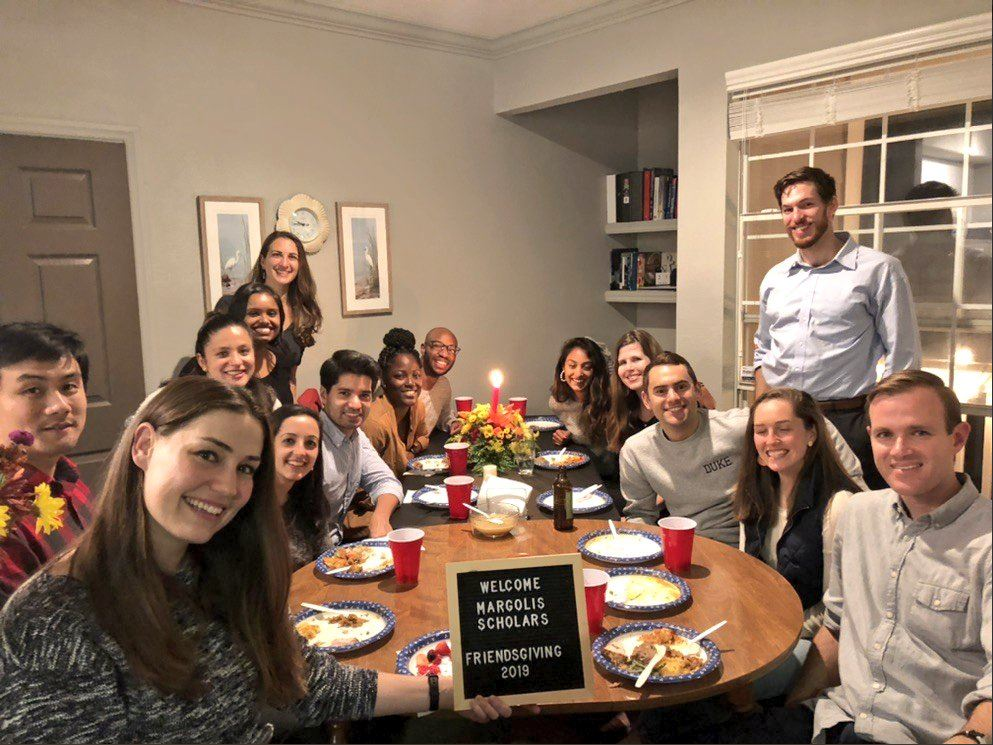 Picture of Scholars celebrating Friendsgiving 2019